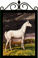 The White Horse Country Pub Sign