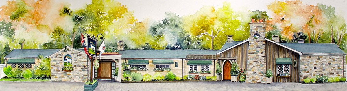 The White Horse Country Pub Tavern Painting