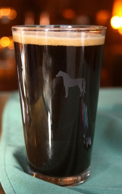 English Pint Glass with Logo  White-Horse-Beer-Large.jpg