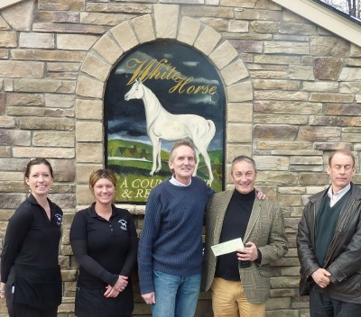 WHITE HORSE DONATES TO STATE FOOD BANK  2014